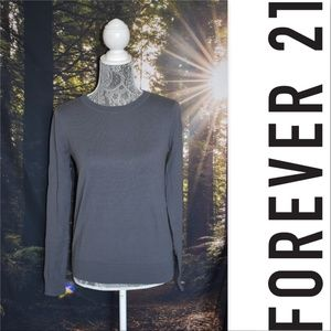 F21 Grey Crewneck Sweater